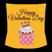 バレンタインデー ハートのカップケーキイラスト