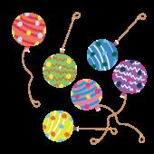 カラフルなヨーヨー(ヨーヨーすくいの風船)イラスト【祭】
