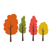 紅葉している 木 の かわいい!無料 イラスト【植物・グリーン・秋】