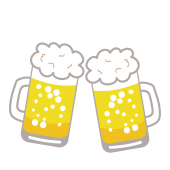 ビール(生ビール)とジョッキのイラスト【飲み物・お酒・アルコール】