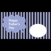【父の日】写真フレーム付きグリーティングカード フリー イラスト