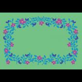 お花と葉っぱのフレーム(便箋・枠)のイラスト A4サイズ