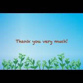【グリーティング】さわやか!お礼・感謝カードイラスト「Thank you very much」