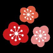 【花】かわいい梅(ウメ)の花のイラスト