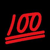 良くできました!100点(100てん)マーク の フリー イラスト