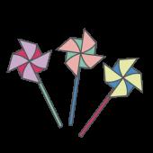 【子供(こども)の日】風車(カザグルマ)の かわいい イラスト
