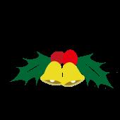【クリスマス】柊(ひいらぎ)と鈴(ベル)の イラスト