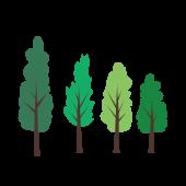 かわいい!新緑・木 無料 イラスト【植物・グリーン】