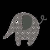 かわいい!象(ぞう・ゾウ)さんのパオーーン  無料  イラスト【動物】