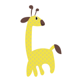 かわいい!麒麟(キリン・きりん)無料 イラスト【動物】
