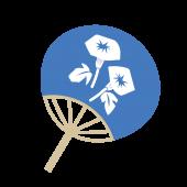 紫陽花(アジサイ)の描かれた うちわ の イラスト