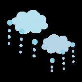 梅雨に便利♪ かわいい♪  雨雲 イラスト
