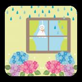 てるてる坊主♪てる坊主♪明日天気にしておくれ!のイラスト【梅雨】