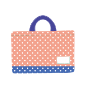 かわいい手提げ袋(カバン・バッグ)の 無料 イラスト