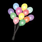 風船(バルーン)無料 イラスト カラフルで楽しい♪