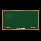 かわいい!無料の 黒板(木枠) 素材 イラスト