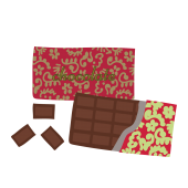 おしゃれなチョコレート(板チョコ)のイラスト