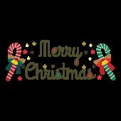 メリークリスマス!オシャレな英語の筆記体文字(ロゴ)イラスト