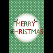 おしゃれ♪ クリスマスカード「MERRY CHRISTMAS」イラスト(縦)