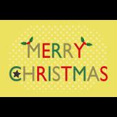 おしゃれ♪ クリスマスカード「MERRY CHRISTMAS」イラスト(横)