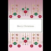 クリスマス飾り(オーナメント)のクリスマスカード (縦)イラスト