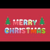 かわいい♪子供も喜ぶ「 クリスマスカード」イラスト(横)