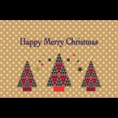北欧風!かわいい♪クリスマスカードの メッセージ イラスト(横)