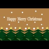 おしゃれなクリスマスカードとメッセージ♪クリスマスツリー イラスト
