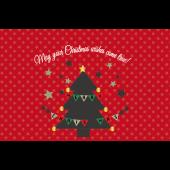 かわいい♪クリスマスカードと メッセージのイラスト【グリーティング】