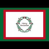 【グリーティング】クリスマスリースのカードイラスト
