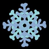 冬!綺麗な雪の結晶 フリー イラスト!