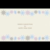 雪の結晶 Merry chirstmas クリスマスカードのテンプレート1 イラスト