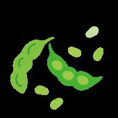 枝豆(えだ豆・エダマメ)おつまみ 野菜の 無料 イラスト