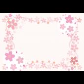 桜(サクラ)の かわいい♪ 無料 枠・フレーム イラスト