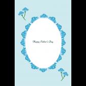 父の日のシンプルなグリーティングカード(縦)フリー イラスト