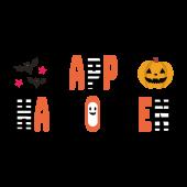 HAPPY HALLOWEEN! ハロウィンのかっこいい文字 デザイン イラスト