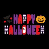 HAPPY HALLOWEEN! ハロウィンのかわいい文字 デザイン イラスト