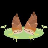 春 イラスト!かわいい♩竹の子(たけのこ)の 無料イラスト