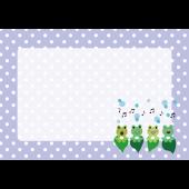 かわいい♪梅雨♪カエル(蛙)の合唱 フレーム (A4) 無料 イラスト