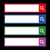 検索窓 イラスト デザイン 4色展開