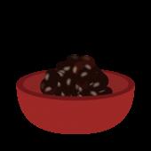 おせち(おせち料理)の 黒豆 フリー イラスト