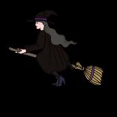 ハロウィン きれいな魔女の 無料 おしゃれ イラスト