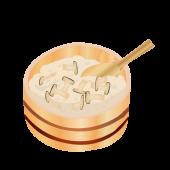 おひつに入った♪松茸料理! 松茸ご飯の 無料 イラスト