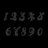 おしゃれで目立つ♪数字 ナンバー スタンプ (白黒)フリーイラスト