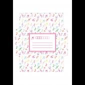 封筒 テンプレート 音符柄のかわいい イラスト