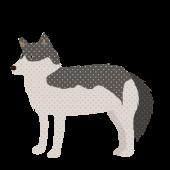 おしゃれ♪ オオカミ(狼・おおかみ)の かっこいい! フリーイラスト