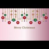 かわいい♪クリスマス飾り(オーナメント)のクリスマスカード イラスト