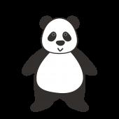 かわいい!パンダ  無料 イラスト 全身バーション