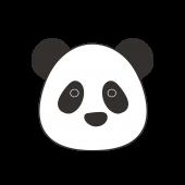 かわいい!パンダ フリー   イラスト 顔のアップ!
