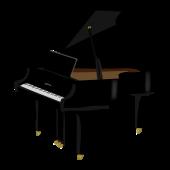 おしゃれ!光輝く♪グランド ピアノ の 無料(フリー)イラスト素材